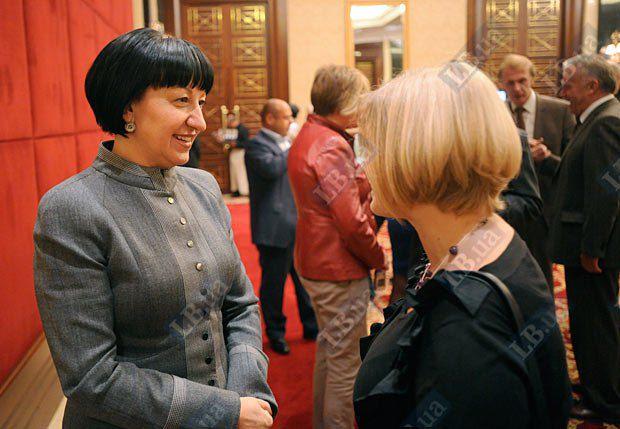 Секретарь Киевсовета Галина Герега и Ирина Геращенко