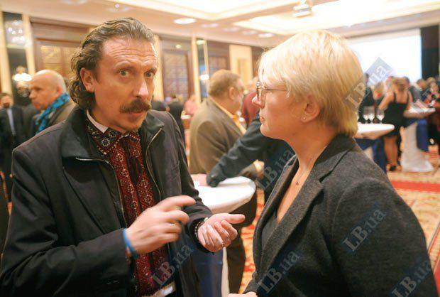 Народный депутат Андрей Шкиль и глава пресс-центра СБУ Марина Остапенко