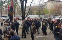 У київському суді побилися противники і прихильники перейменування Московського проспекту і проспекту Ватутіна