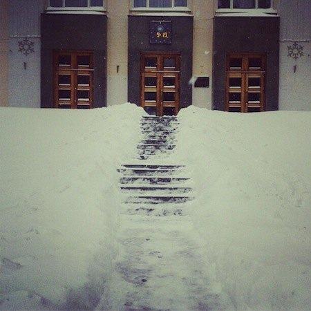 Вход в Национальный университет пищевых технологий на улице Владимирской