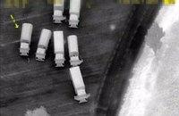 Безпілотник ОБСЄ зафіксував 16 російських вантажівок, які перетинають український кордон