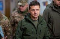 """Зеленский поздравил ракетные и артиллерийские войска, попросив держать """"порох сухим"""""""