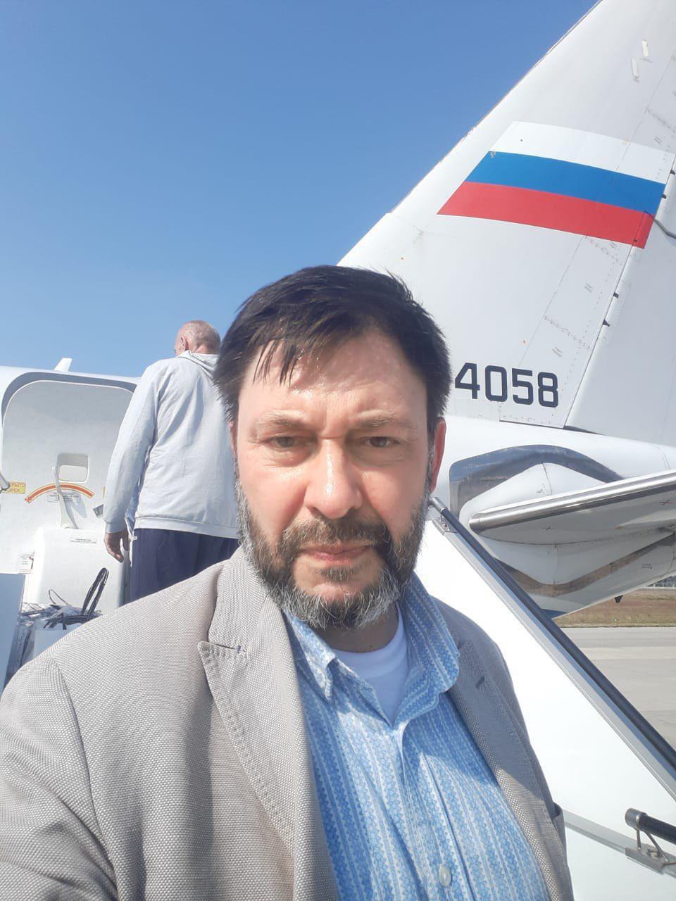 Кирило Вишинський в аеропорту Бориспіль перед вильотом у РФ