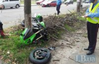 У Києві Mitsubishi збив мотоцикліста