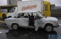 В Киеве из-за дождя произошло ДТП, пострадала пассажирка