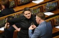 Савченко пришла на заседание Рады