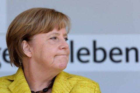 У Меркель кинули помідор під час передвиборного заходу