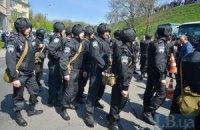 В столкновениях в центре Киева пострадал милиционер
