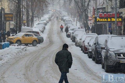 У вівторок у Києві до +2 градусів і рясний мокрий сніг