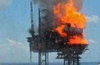 У берегов Австралии пылает нефтяная скважина