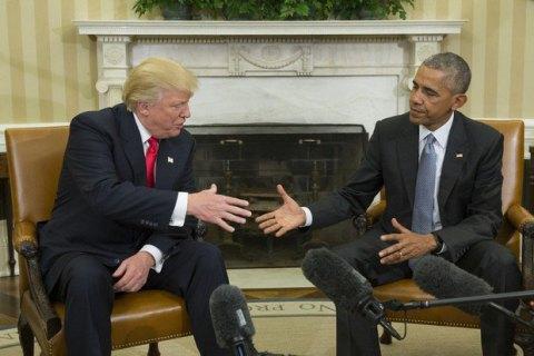 Трамп зізнався, що радиться з Обамою щодо нових призначень