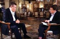 Янукович дав перше інтерв'ю західному ЗМІ