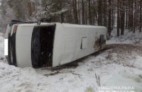 У Рівненській області перекинулася маршрутка з пасажирами