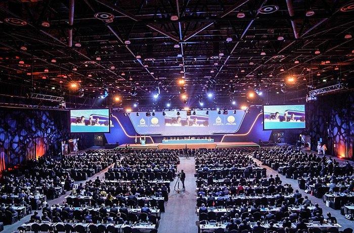 Во время открытия 87-й сессии Генеральной ассамблеи Интерпола в Дубаи