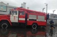 В Киеве затопило Почтовую площадь