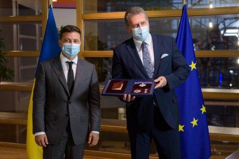 Зеленский наградил вице-президента Еврокомиссии орденом Ярослава Мудрого II степени