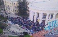 Полиция открыла два уголовных производства по факту штурма Октябрьского дворца