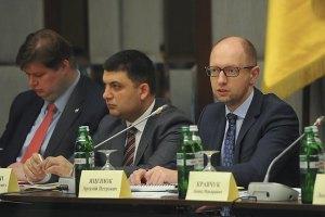 Яценюк исключает переговоры с террористами