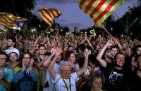 Возле парламента Каталонии проходит многотысячный митинг в поддержку независимости