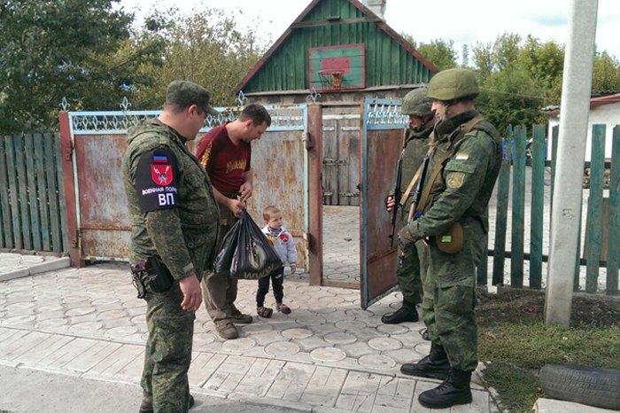Патрули так называемой 'народной милиции ДНР'
