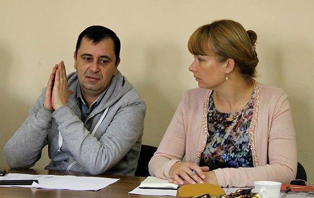Сандра Рулофс-Саакашвили, представитель Глобального фонда, и Владимир Жовтяк