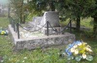 В Польше разрушили памятник воинам УПА на кладбище