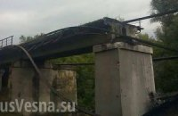 Взорван железнодорожный мост в Луганской области