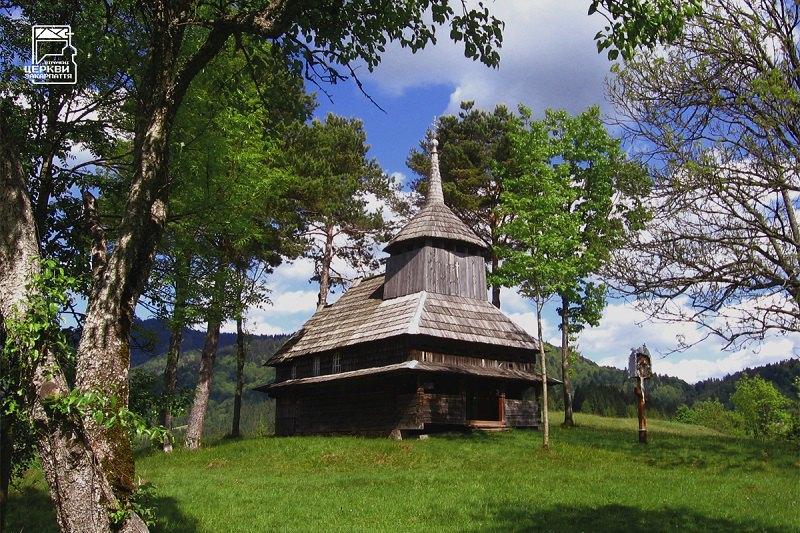Церква 1937 року в гірському селі Кужбиї, якого вже не існує