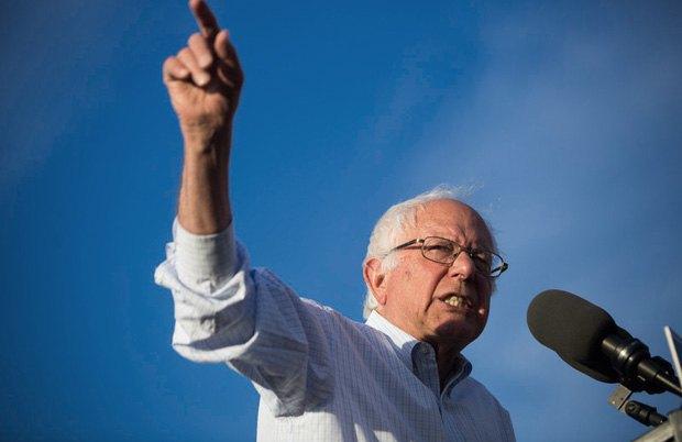 Берни Сандерс на предвыборном митинге в Вашингтоне, 09 июня 2016 года
