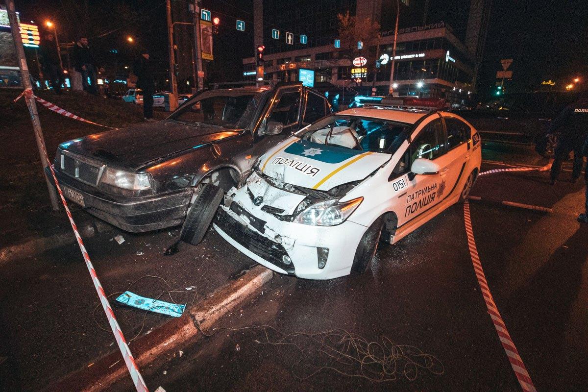 ДТП с участием патрульного автомобиля в Киеве