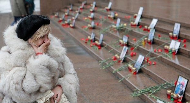 На ступенях здания Киевсовета