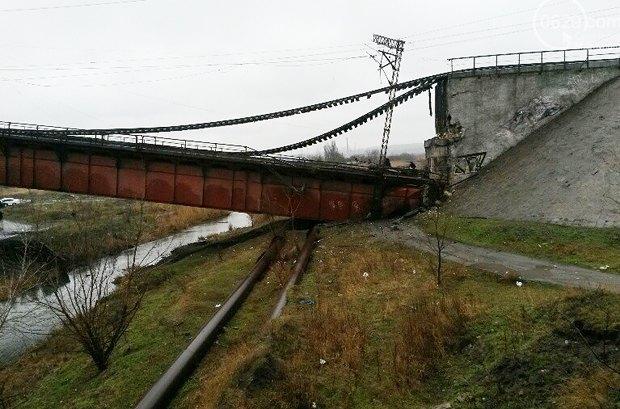 Мост в декабре после взрыва