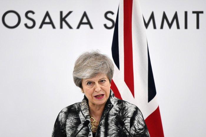 Премьер-министр Британии Тереза Мэй во время саммита в Осаке