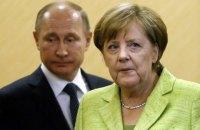 Урегулирование конфликта на Донбассе стало одной из тем разговора Меркель и Путина