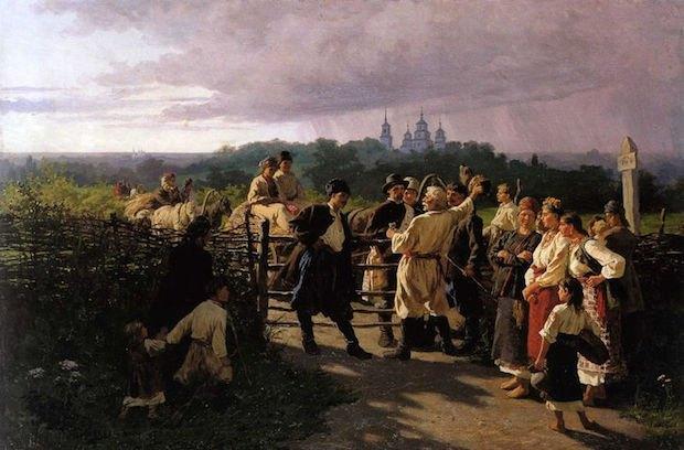 «Весільний викуп», 1881. Олія, полотно.