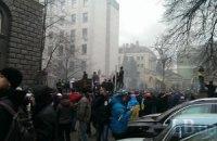 Милиция распылила газ возле АП