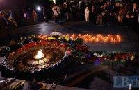 У Києві вшанували першу хвилину миру після закінчення Другої світової війни