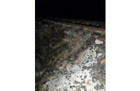 У Чернівецькій області під залізничною колією знову утворився провал - на тому ж місці, де й минулого разу