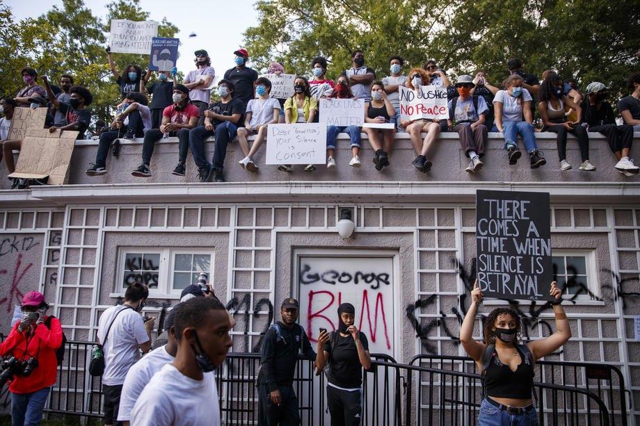 Протест возле Белого дома в Вашингтоне, 31 мая 2020 года.