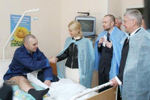 Руководитель ХОГА Светличная иМаршал Сената Польши посетили военный госпиталь вХарькове