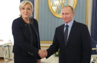 Марин Ле Пен призвала Путина объединить усилия в борьбе с терроризмом