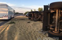 На трасі Київ-Одеса зіткнулися два зерновози, три людини загинули