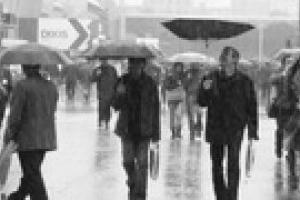 В Украине холодно и дождливо