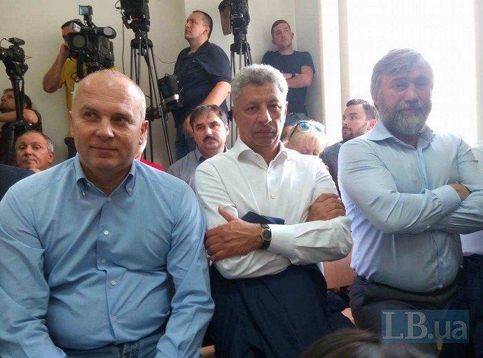 Депутаты Шуфрич, Бойко и Новинский