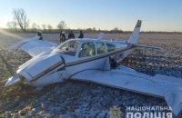 В Киевской области упал самолет, два человека получили травмы