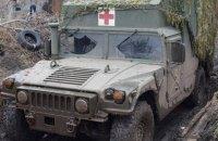 На Донбасі через обстріл санітарного автомобіля загинули військовий і медик (оновлено)