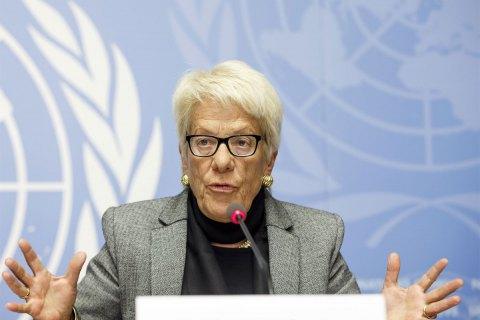 Карла дель Понте звинуватила в бездіяльності комісію ООН з питань Сирії і вийшла з неї