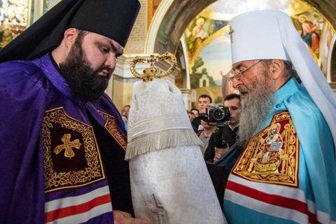 """Онуфрій висвятив на єпископа архімандрита з бази """"Миротворця"""""""