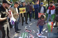 Курдская диаспора пикетировала посольство США в Киеве