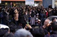 В Тегеране силы безопасности начали разгон протестующих, сообщается о жертвах (обновлено)